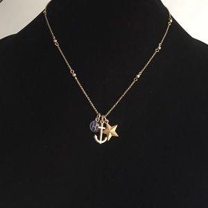 Lia Sophia Brass Nautical Trio Necklace